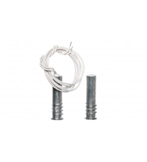 Czujka kontaktronowa systemu alarmowego wpuszczana magnetyczna z rezystorem 1,1 kOhm metalowa K-3 2E