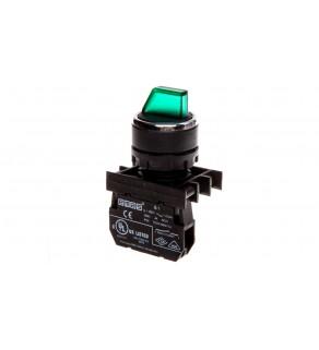 Przycisk pokrętny podświetlany, 1NO, 0-I stabilny, zielony T0-B100SL20Y