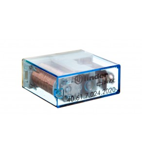 Przekaźnik miniaturowy 1P 16A 24V DC, stopień szczelności RTII 40.61.7.024.2020