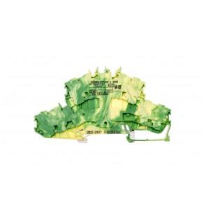 Złączka szynowa 2-pietrowa 2,5mm2 żółto-zielona 2002-2407 TOPJOBS