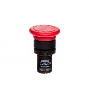 Przycisk dłoniowy bezpieczeństwa monoblok, 1NC, grzybek 40 mm, czerwony T0-MB200E
