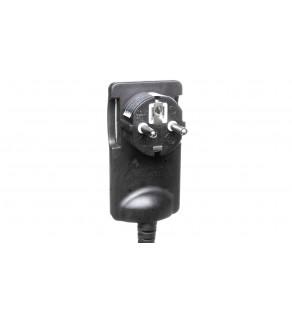 Wtyczka płaska kątowa 2P 16A 250V z przewodem 1,5m, czarna OR-AE-1312/B