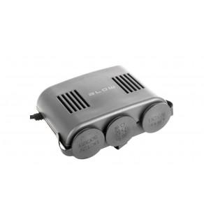 Rozgałęźnik zapalniczki samochodowej 1xWT/3xGN+kabel CS-31 96-866