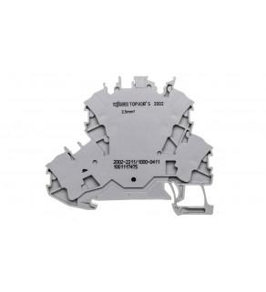 Złączka 2-piętrowa 2,5mm2 diodowa szara TOPJOBS 2002-2211/1000-411