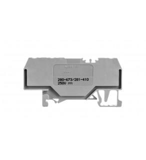 Złaczka diodowa 3-przewodowa 2,5mm2 szara 280-673/281-410