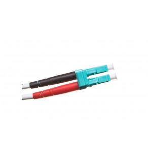Patch cord światłowodowy LC/LC duplex MM 50/125 OM3 1m LS0H pomarańczowy DK-2533-01/3