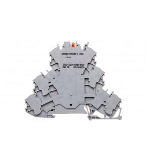 Złączka 3-piętrowa 2,5mm2 z LED szara TOPJOBS 2002-3221/1000-434