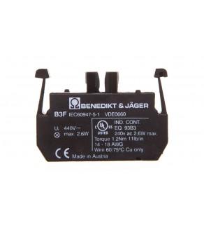 Moduł podświetlany gniazdo BA9S 440V AC/DC bezpośrednie połączenie z żarówką max. 1,9W 1R BE-B3F-0000000000