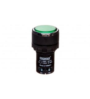 Przycisk sterowniczy monoblok, kryty, niestabilny, 1NO, zielony T0-MB100DY