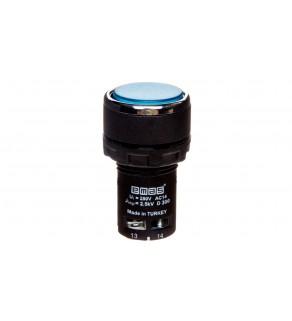 Przycisk sterowniczy monoblok, kryty, niestabilny, 1NO, niebieski T0-MB100DM