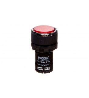 Przycisk sterowniczy monoblok, kryty, niestabilny, 1NO, czerwony T0-MB100DK