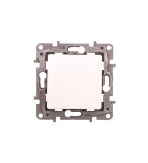 NILOE Przycisk pojedynczy podświetlany 6 A biały764522