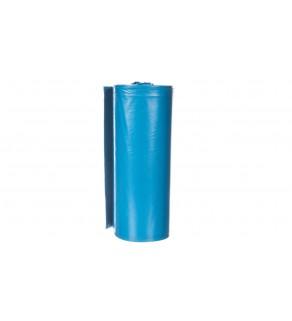 Worki na odpady 120 L niebieskie bardzo mocne wymiary 70x110cm grubość 40 mic folia LDPE 23B258 /10szt.