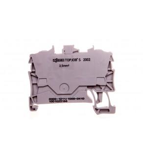 Złączka 2-przewodowa 2,5mm2 diodowa szara 2002-1211/1000-410 TOPJOBS