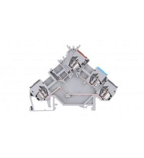 Złączka szynowa (do wyłączników ciśnieniowych i termicznych) 2,5mm2 szara 280-562 280-560