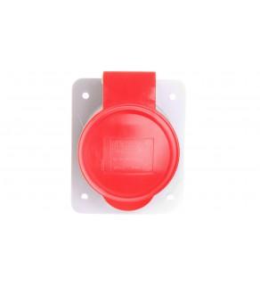 Gniazdo stałe 4P 32A 400V czerwone IP44 10 6H IEC 309 HP GW62220H