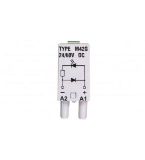 Moduł sygnalizacyjny LD (diody: LED zielony + D) 24-60V DC M42G szary 854843