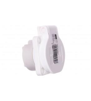 Gniazdo tablicowe 10/16A 2P+Z 230V białe IP54 104-0w