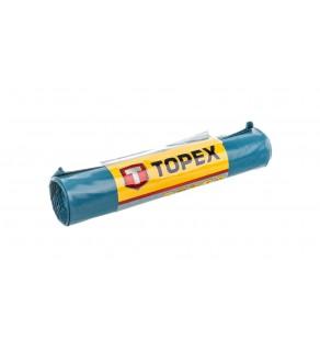 Worki na ciężkie odpady 80 L błękitne super mocne wymiary 60x90cm - grubość 100 mic folia LDPE 23B257 /5szt.