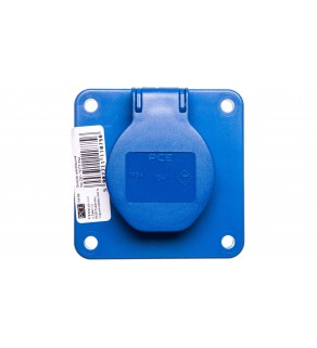 Gniazdo tablicowe 10/16A 2P+Z 230V niebieskie IP44 104-8b