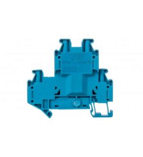 Złączka szynowa 2-piętrowa 4mm2 niebieska Ex UTTB 4 BU 3044791