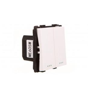 TouchMe Mechanizm łącznik podwójny schodowy biały ME605W