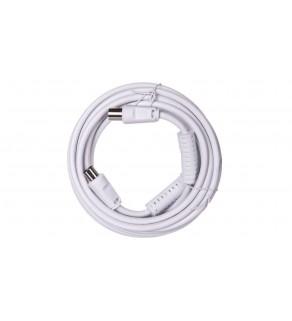 Przewód antenowy IEC 5m biały 50725