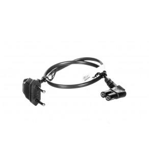 Kabel zasilający kątowy EURO (radiowy) CEE 7/16 - IEC 320 C7 0,5m 56588