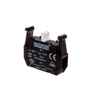 Styk pomocniczy do kaset serii PV 1Z montaż czołowy T0-PVB1