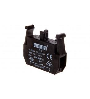 Styk pomocniczy do kaset serii PV 1R montaż czołowy T0-PVB2