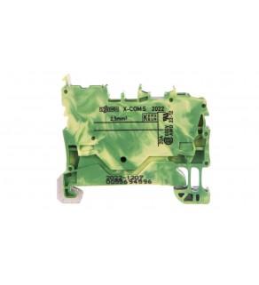 Złączka bazowa X-COMS 1-przewodowa / 1-pinowa żółto-zielona 2022-1207 /100szt.