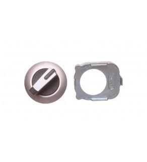 Napęd przełącznika 2 położeniowy O-I 30mm biały z podświetleniem z samopowrotem metal mat IP69k Sirius ACT 3SU1062-2DC60-0AA0