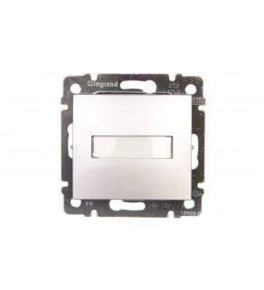 VALENA Przycisk jednobiegunowy 12V z podświetleniem z etykietą aluminium 770217