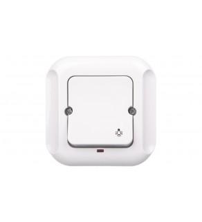 TOPAZ Przycisk zwierny /światło/ z podświetleniem biały WP-6T/S