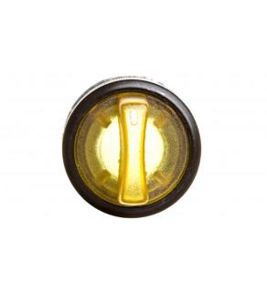 Łącznik pokrętny podświetlany z ramką, 2 położenia stabilne metal żółty P9MSLD0G