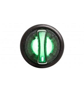 Łącznik pokrętny podświetlany z ramką zielony 2 położenia stabilne P9XSLD0V 185592