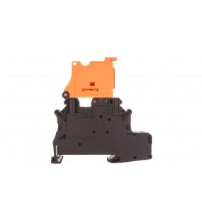Złączka szynowa ochronna rozłączalna 4mm2 czarno-pomarańczowa UT 4-PE/HEDI 3074004