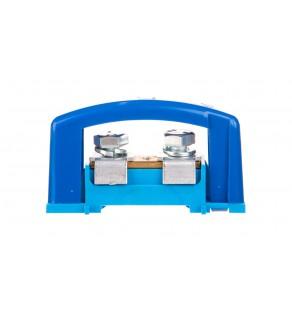 Zacisk ochronny 2x35mm2 niebieski z pokrywą na szynę TH35 E.4120P