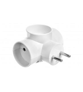 Rozgałeźnik wtyczkowy 3x2P z podświetleniem biały R-30/S