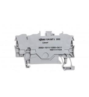 Złączka szynowa 3-przewodowa 2,5mm2 diodowa szara TOPJOBS 2002-1311/1000-411
