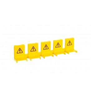 Osłona przed dotykiem do szyn grzebieniowych kołkowych i widełkowych (5modułów) żółta KZ059