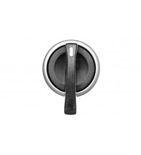 Łącznik pokrętny z ramką, metal czarny 3 położenia /chwilowe-stabilne-chwilowe/ P9MSVZ3N 184391