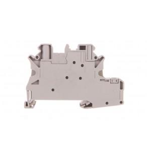 Złączka szynowa elementów kontrolnych 2-przewodowa 4mm2 szara UT 4-PE/L-DIO/L-R P/P 3046834