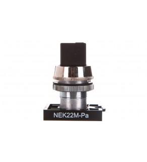 Napęd przycisku NEK22M-Pa fi22 pokrętny czarny W0-N-NEK22M-PA S