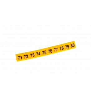 Oznacznik do złączek EZ-5/71-80 żółty R34RR-02050301900 /100szt.
