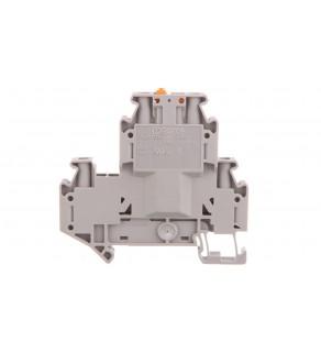 Złączka przelotowa 4-przewodowa z odłącznikiem nożowym 4mm2 szara UTTB 4-MT P/P 3044762