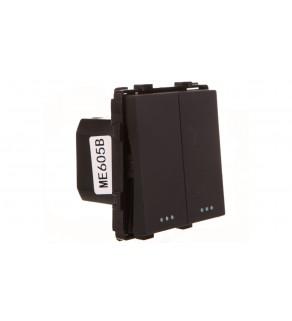 TouchMe Mechanizm łącznik podwójny schodowy czarny ME605B