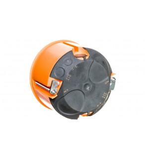 Puszka do pustych ścian fi 60mm z membranami przebiciowymi płytka E2700 pomarańczowa wiatroszczelna 83191088