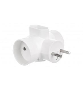 Rozgałeźnik wtyczkowy 2x2P +1xEuro biały R-20