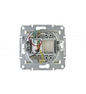 ASFORA Gniazdo telefoniczne pojedyncze RJ11 bez ramki kremowe EPH4100723